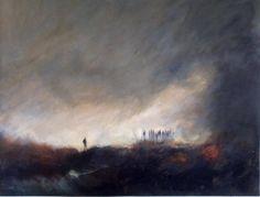 Sylvie Thouron - Dans ce paysage.Acrylique sur toile, 100/80cm