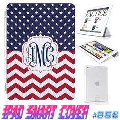 USA Custom US Flag Star Chevron July 4 Monogram  by GeckoDesignz, $12.99 #ipad #ipadcase #ipadcover #case #cover #monogram #customize #anchor #cute #girl #smartcover #ipadsmartcover #Design #creative https://www.etsy.com/shop/GeicoDesign