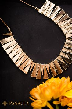 Channel your inner Cleopatra with this 24 karat Gold Collar Necklace. Goes great with Grecian-style maxi dresses.