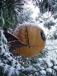 I'd LOVE to stay in a Free Spirit Sphere. Located in Qualicum Beach, BC, Canada - it sounds and looks like such a neat idea and unique experience. Perfect for weekend getaways with a partner!     http://www.freespiritspheres.com/index.htm
