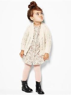 Baby Clothing: Toddler Girl Clothing: Featured Outfits Toddler Girl New Arrivals Gap Baby Outfits, Outfits Niños, Little Girl Outfits, Little Girl Fashion, Boy Fashion, Fashion Wear, Toddler Girl Style, Toddler Girl Outfits, Toddler Fashion