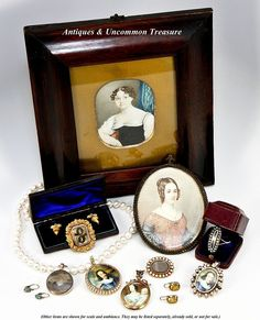 Antique Victorian Era 12k, 10k, Diamonds Pearls Locket - Over 1/2 ct from antiques-uncommon-treasure on Ruby Lane