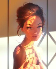 Sunlight, Aleksandr Nikonov on ArtStation at https://www.artstation.com/artwork/zxxW6