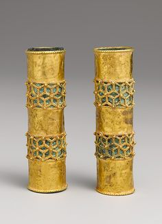 Hair Ornament  - I think these are braid cases!  c.12th c?