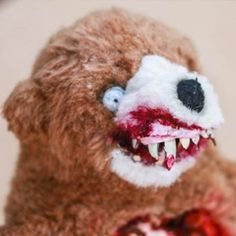 A tutorial on how to make a Terror Teddy from a regular cute old teddy bear. Be warned: there is slicing, dicing, and lots of gore.