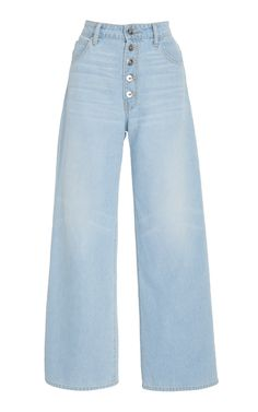 Charlotte High-Rise Wide-Leg Jeans by Eve Denim Fashion Now, Tween Fashion, Denim Fashion, Fashion Outfits, Womens Fashion, Fashion Black, Girl Fashion, Cool Outfits, Casual Outfits