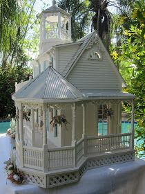 Dollhouses by Robin Carey: The Sea Glass Victorian Cottage Dollhouse