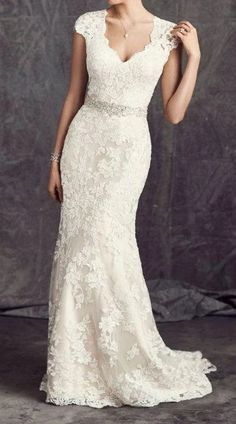 Style Spacez: 18 Jawdroppingly Cheap Wedding Dress - New Ideas Wedding Dress Over 40, Second Wedding Dresses, Cheap Wedding Dress, Wedding Dress Styles, 2nd Marriage Wedding Dress, Cap Sleeved Wedding Dress, Lace Trumpet Wedding Dress, Casual Lace Wedding Dress, Mature Wedding Dresses