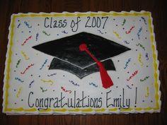 Emily's Graduation Cake
