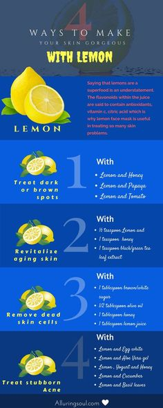 Lemon Face Mask For Beautiful And Spotless Skin