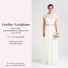 *Exclusive* Wedding Dress Sample Sale at Caroline Castigliano's Knightsbridge Store, London on 11th-12th December 2015 | Love My Dress® UK Wedding Blog