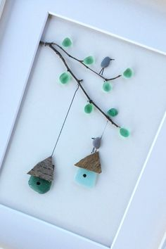 Pebble art birds, Birds cage picture, sea glass art, pebbleart, home decor, housewarming, new home gift, anniversary gift, birthday Size : 12 x10 inch /30 x 25 cm Europe: 7 business days Canada: 7-15 business days USA: 7-15 business days Japan: 10-20 business days Australia, New