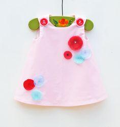 Baby Pink Garden Dress   Wedding  Toddler by KKchildrendesigns, $56.00