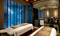 Double treatment spa suite at The Spa at The Chedi Muscat
