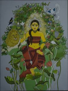Durga with nature
