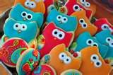 Cute, colorful owl cookies for an owl birthday. Owl Cookies, Iced Cookies, Cute Cookies, Yummy Cookies, Owl Parties, Owl Birthday Parties, Birthday Ideas, 2nd Birthday, Chocolates