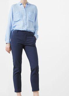 Bawełniane spodnie garniturowe -  Kobieta   OUTLET Polska