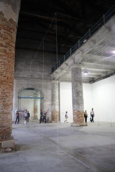 Junya Ishigami's installation at the Arsenale before being destroyed