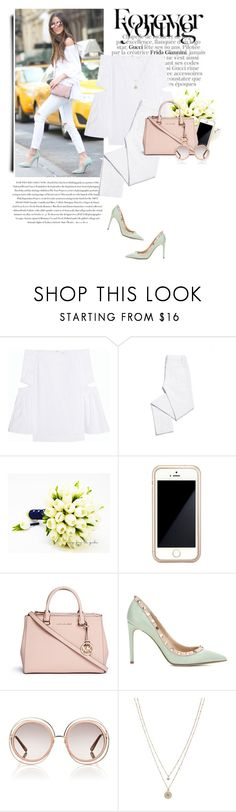 """""""..."""" by yexyka ❤ liked on Polyvore featuring E L L E R Y, Envi, Tory Burch, Squair, Michael Kors, Valentino, Chloé and LC Lauren Conrad"""
