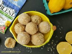 Lemon Coconut Protein Balls (Raw Vegan) - Just Glowing with Health - Healing Fibromyalgia with Raw Foods