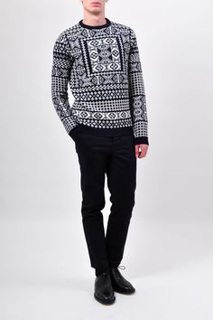 Fair Isle Crewneck Knit by Raf Simons (via SLAMXHYPE)