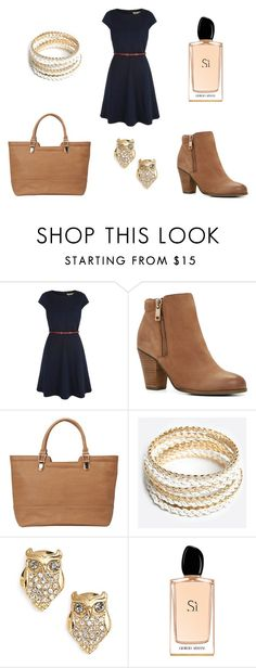 """""""What I wore today! 11/07"""" by staceylousimons on Polyvore featuring Yumi, ALDO, Sandler, ZooShoo, Kate Spade and Giorgio Armani"""