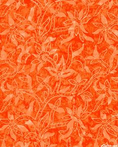 """Paisley Vine Batik in Brick for the """"Tonga"""" collection by Timeless Treasures."""