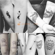 Couple tattoos love, pair tattoos, new tattoos, love tattoos, body art tatt Couple Tattoos Love, Love Tattoos, Unique Tattoos, New Tattoos, Tattoos For Guys, Tattoos For Women, Tatoos, Couples Tattoo Designs, Tattoo Designs And Meanings