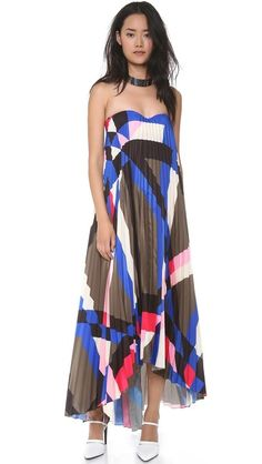 MSGM Pleated Bustier Gown $1198 Beautiful. In another lifetime...