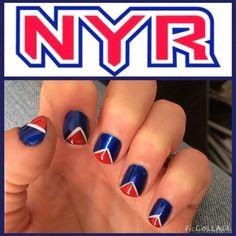NYR nail art