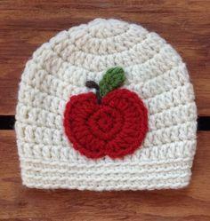 Crochet Baby Hat, Baby Halloween Hat, Baby Apple Hat, Newborn Hat, Infant Hat, Costume, Autumn Hat, Baby Fall Hat, Photo Prop by…