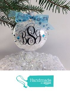 Monogram Ornament Personalized with Your Name and Your Colors from GemLights Gifts http://www.amazon.com/dp/B016CEN3SI/ref=hnd_sw_r_pi_dp_pXFpwb10PT9GQ #handmadeatamazon