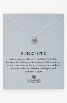 Dogeared 'Reminder - Strength' Pendant Necklace available at #Nordstrom