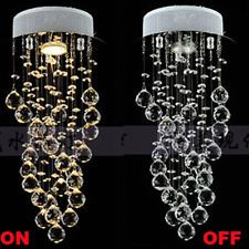 New Modern Crystal LED Pendant Lamp Lighting Ceiling Light Fixture Chandelier
