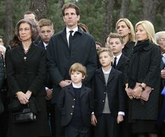 The extended Greek Royal family, including Queen Sofia of Spain, Crown Prince Pavlos and famil attend the memorial for King Paul I of Greece's gave during a memorial service honoring his 50th Anniversary of his death 3/6/2014