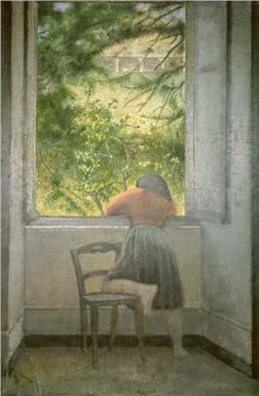Girl At a Window (Jeune fille à la fenêtre) - Balthus  (1955)