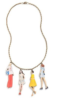 World's Smallest Lookbook Necklace in 70's