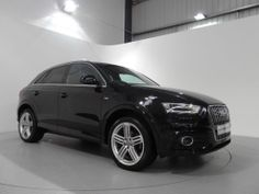 Audi Q3 2.0 TDi S-Line Quattro 140 Finished in Phantom Black Pearl with Black Leather Interior and Matt Brushed Aluminium Trim: http://www.simonjamescars.co.uk/audi-q3-tdi-quattro-s-line-in-derbyshire-3690309