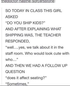 Me if I were a teacher