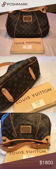 LOUIS VUITTON HANDBAG RARE AUTHENTIC DISCONTINUED LOUIS VUITTON MONOGRAM GALLIERA PM HANDBAG!!! Excellent condition. Never used. Stored in the original dust bag it came with. Pockets inside. Legs on the bottom of bag. BEAUTIFUL CONDITION! Louis Vuitton Bags Shoulder Bags