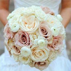 dusty rose wedding flower bouquet,