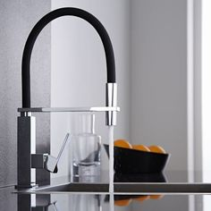 If you're loving the black bathroom trend extend it into the kitchen with the Milano Monobloc mixer tap. Featuring a pull out spout this stylish tap not only looks the part but it also makes washing up quick and easy. Bathroom Shop, Big Bathrooms, Bathroom Trends, Kitchen Mixer Taps, Sink Mixer Taps, Ikea Kitchen, Kitchen Faucets, Kitchen Ideas, Modern Deck