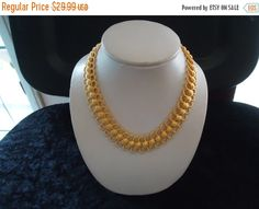 Now On Sale Vintage Gold Tone Necklace by MartiniMermaid on Etsy