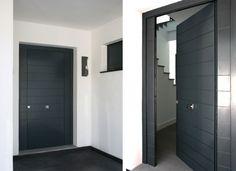 puerta exteriores en pvc gris oscuro - Buscar con Google