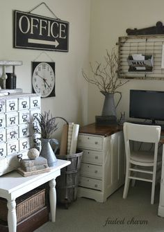 Image result for farmhouse office decor