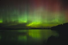 Northern Lights in Northern Minnesota.