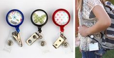 Fun Retractable  Back pack, or Badge  Clips