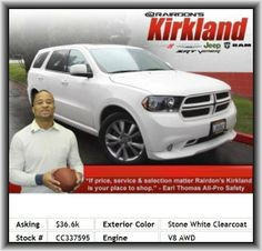 2012 Dodge Durango R/T SUV  Steel Spare Wheel Rim, Front Leg Room: 40.3, Remote Window Operation, Fuel Consumption: City: 13 Mpg, Front And Rear Suspension Stabilizer Bars, Compass, Wheel Width: 8, Tires: Speed Rating: V, Overall Height: 70.9, 2Nd And 3Rd Row Head Airbags, Independent Front Suspension Classification, Cargo Tie Downs, Power Remote Driver Mirror Adjustment, Power Liftgate, Rear Heat Ducts With Separate Controls, 331 Lbs., Remote Power Door Locks