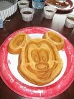 Mickey waffles are so much better than normal ones!