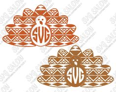 bdad824f Thanksgiving Aztec Turkey Circle Monogram Custom DIY Cutting File Set in SVG,  EPS, DXF, JPEG, and PNG Format